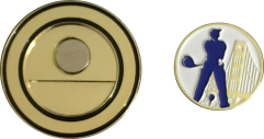 Golf Medallion with Removable Ball Marker