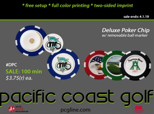 New Deluxe Poker Chip w/ Removable Ball Marker