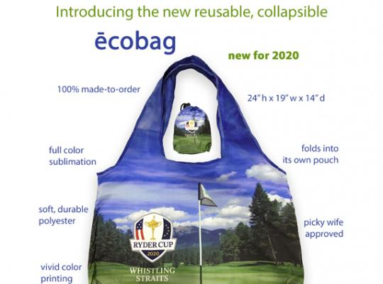 new ecobag collapsible shopping bag